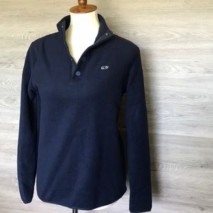 NWT- Vineyard Vines Women's Snap Front Logo Fleece